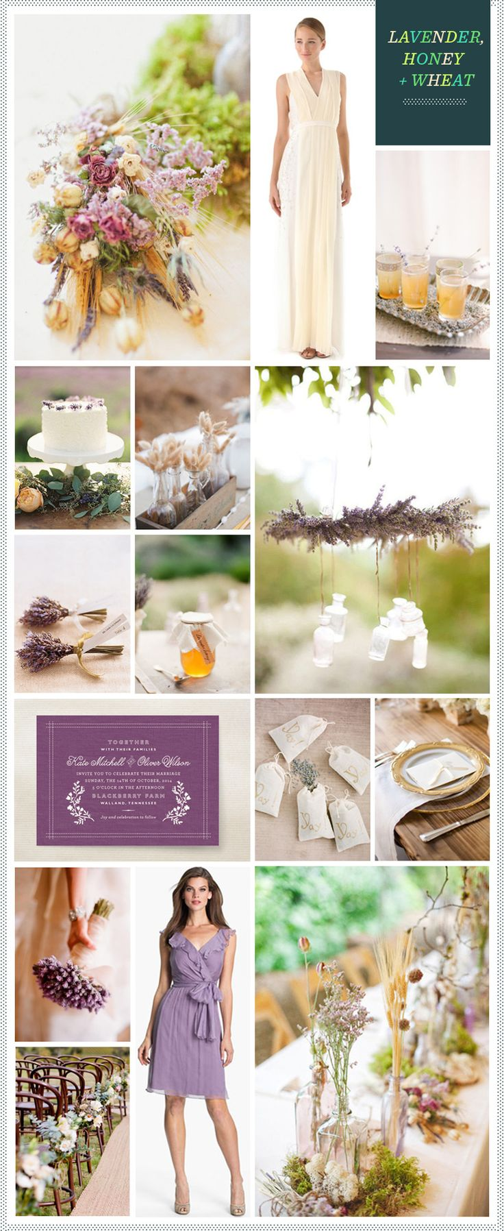 REVEL: Lavender, Wheat + Honey Wedding Inspiration