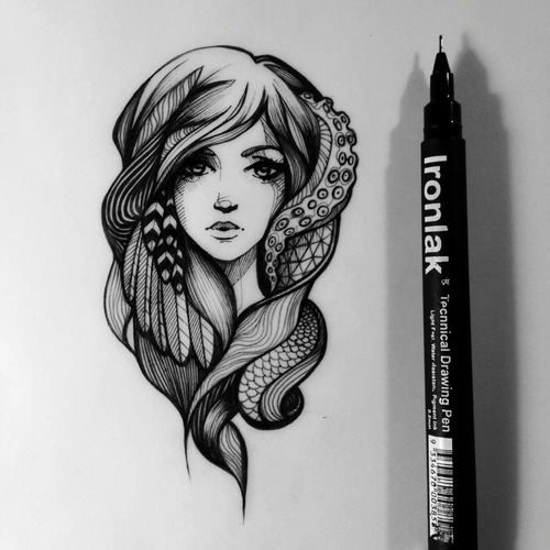 pen and ink-