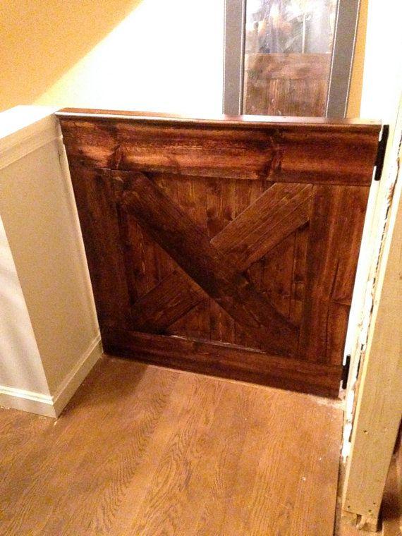 rustic wood doggie gate child gate barn by - Doggie Gates