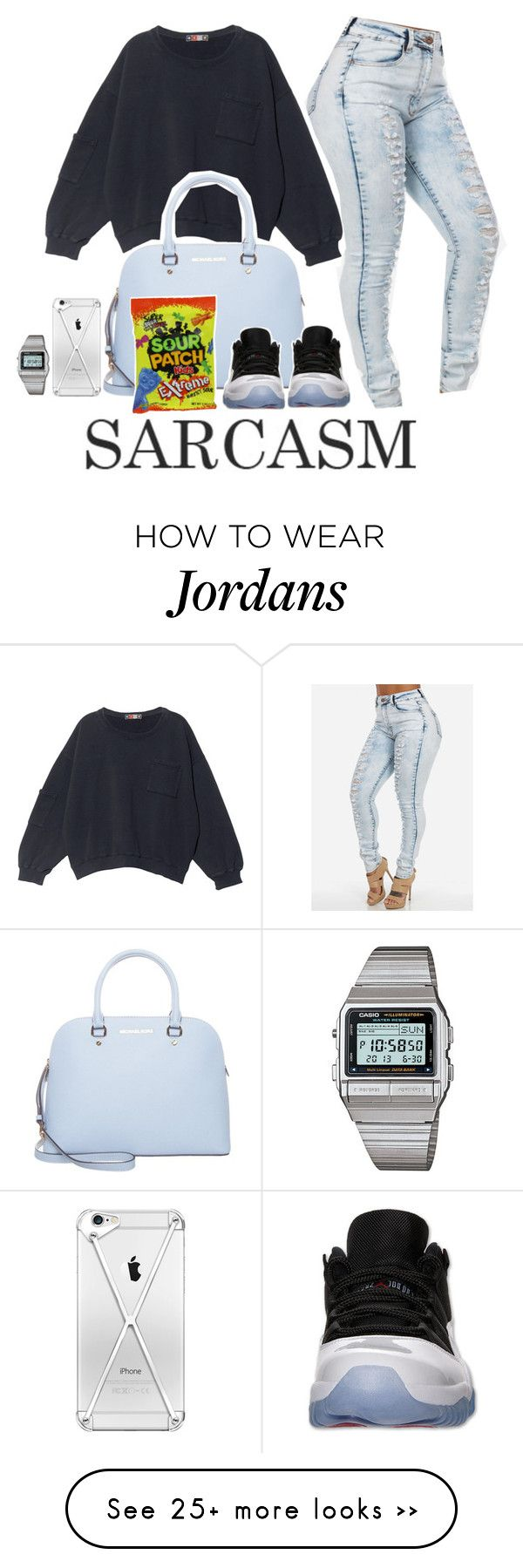 """""""The Fix - Nelly Ft Jeremih ❤️❤️"""" by pingping0987 on Polyvore featuring moda, MSGM, MICHAEL Michael Kors y Casio"""
