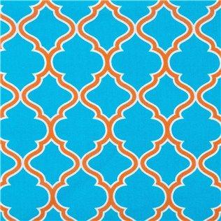 Teal & Orange Quatrefoil Fabric | Shop Hobby Lobby