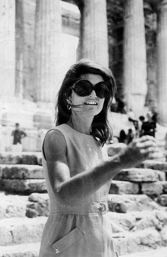 Jackie at the Acropolis, Athens (August 1969)