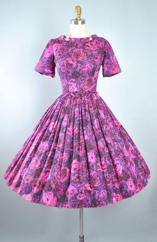 Mejores 57 imágenes de Purple/Lilac Vintage Dresses en Pinterest ...