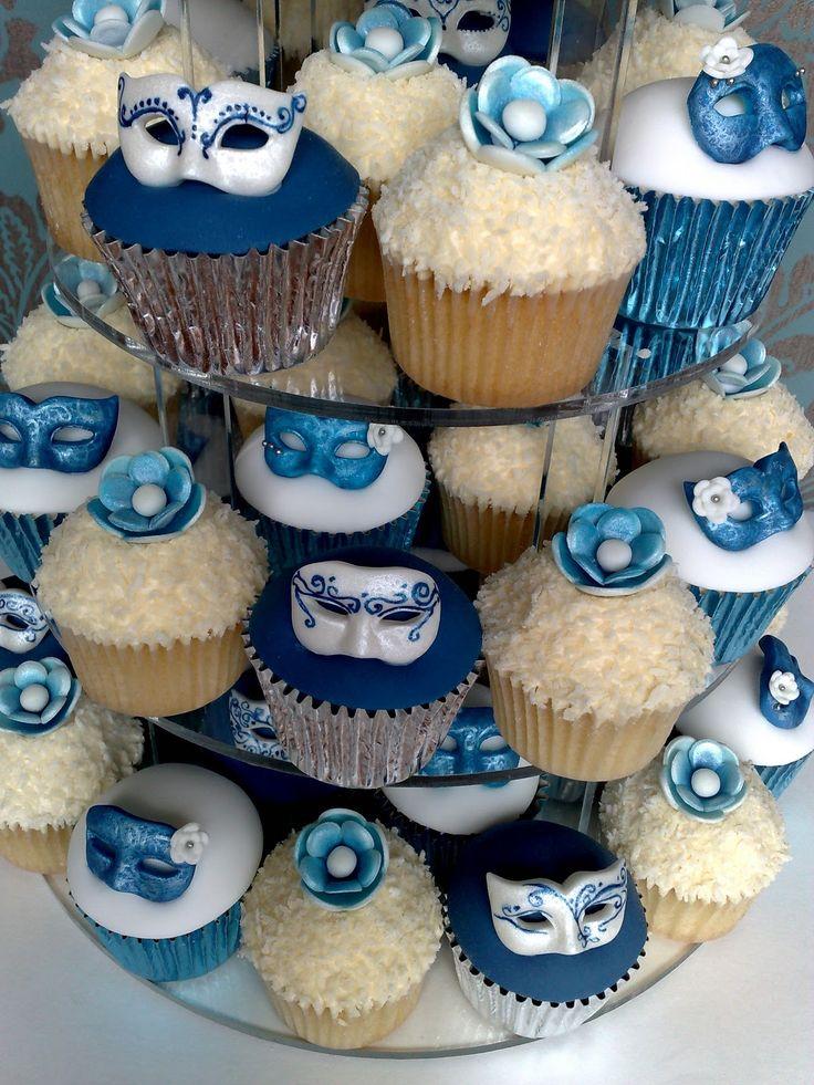 Masquerade Cupcakes Cake | Masquerade Cupcake Tower