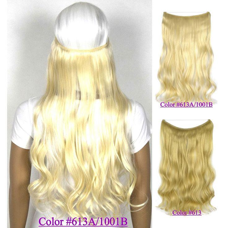22 pollice (55 cm) 100g ondulato filo mircale halo hair extension B5 resistente al calore fibra sintetica dei capelli