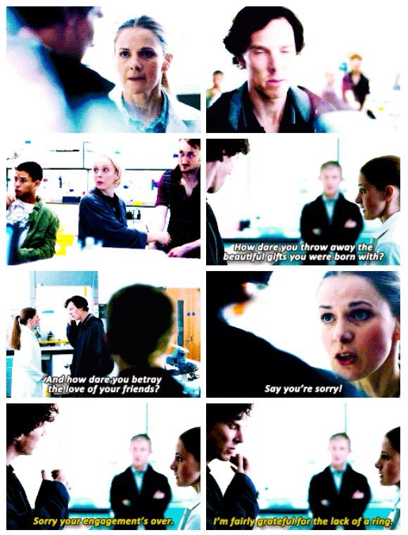 """Molly. Sherlock. His last vow. She is perfect for him. I loved this! she's not afraid to tell him what's what! """"How dare you throw away the beautiful gifts you were born with!"""""""