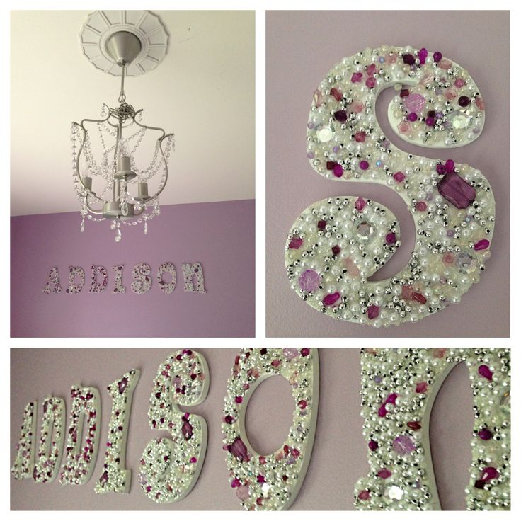 DIY Jeweled Wooden Letters