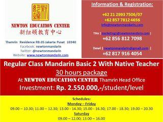 newtonmandarin.com: Latest News: Opening New Regular Class Basic 2 Wit...