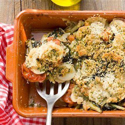 Voici un plat d'accompagnement pour le boeuf ou le poulet. On peut également le servir en entrée ou comme souper léger chaud, avec une salade verte et des petits pains de blé entier.