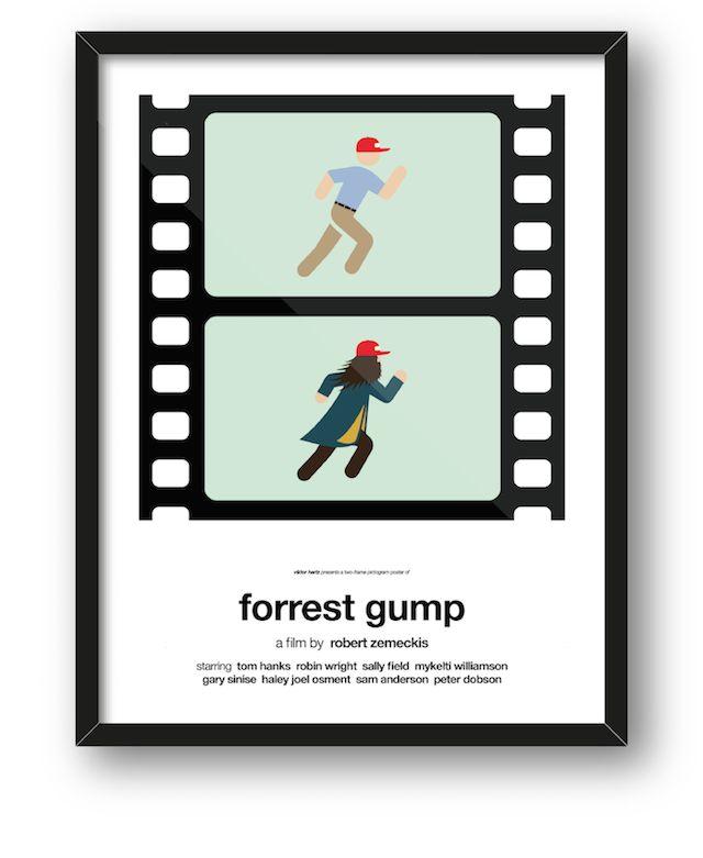 Summaries of Pop Culture Movies in Pictogram Posters by Viktor Hertz