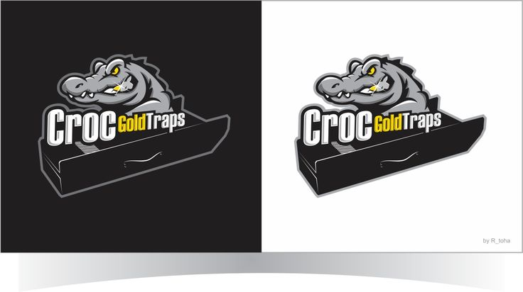 Logo for Croc Gold Trap gold sluice Bold, Masculine Logo Design by r-toha