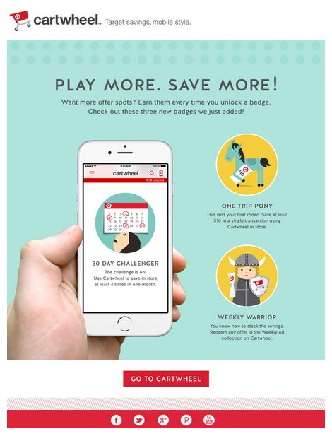 Target Cartwheel mobile app email 2015 (With images) App