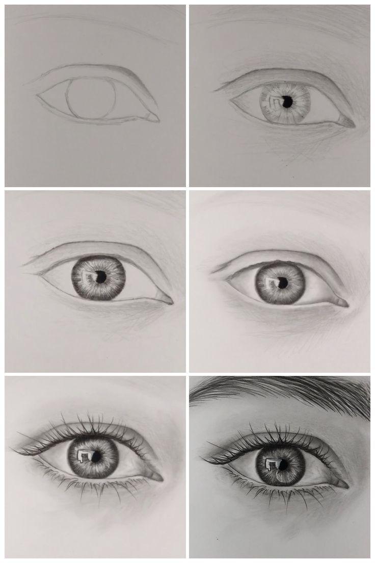 Comment dessiner un œil réaliste, étape par étape – YouTube  Art Corporel