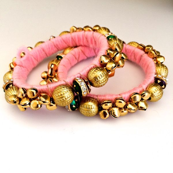 Pink Ghungroo Bangles