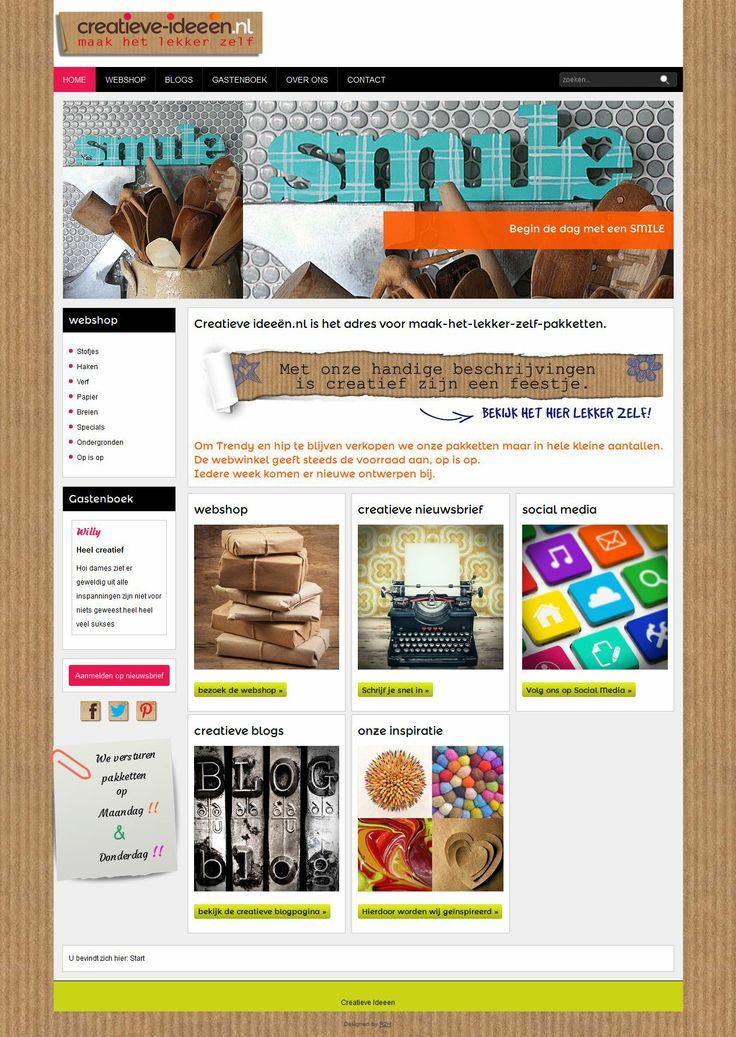 Een #Webdesign voor een #webshop in @Joomla!!  en #Hikashop door R2H