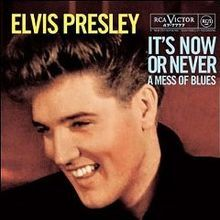 """""""It's Now or Never"""" is a popular song recorded by Elvis Presley and published by Gladys Music, Elvis Presley's publishing company, in 1960. The melody of the song is adapted from the Italian standard, """"'O Sole Mio"""", but the inspiration for it came from the song, """"There's No Tomorrow"""", recorded by U.S. singer, Tony Martin, in 1949. The lyrics were written by Aaron Schroeder and Wally Gold."""