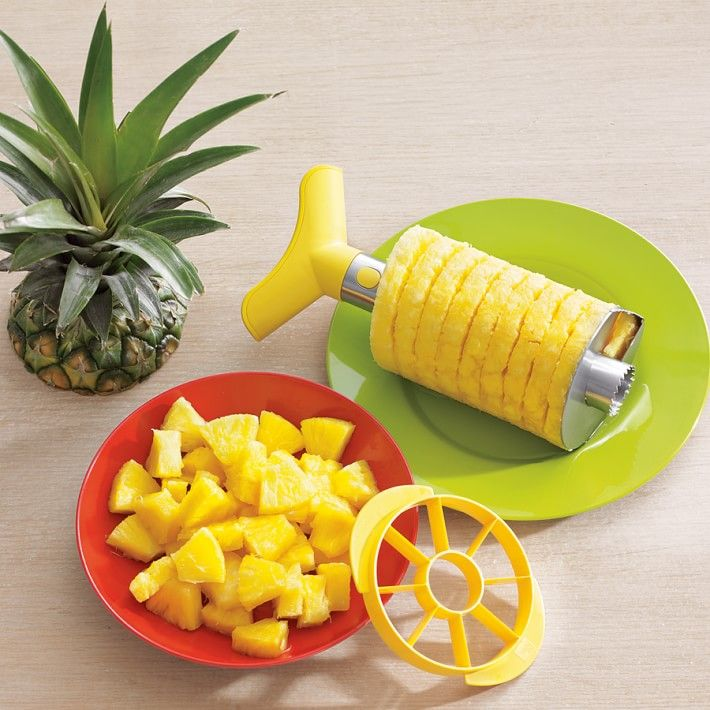 stainless steel pineapple-slicer dicer :Such a simple and fun way to get your dose of all the best bits of pineapple.