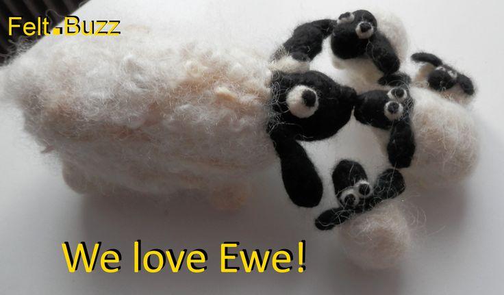 We love Ewe!  Needle felted sheep by Felt.Buzz