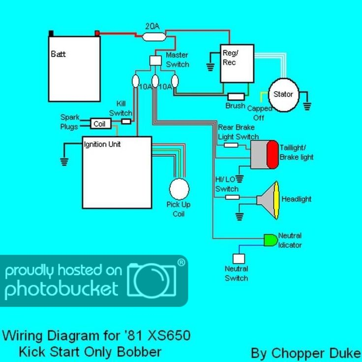Xs650 Chopper Wire Diagram