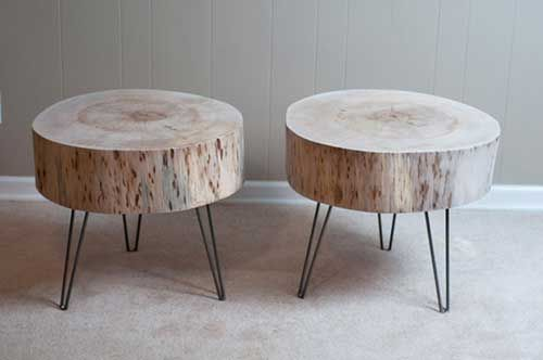 10 ideas para utilizar troncos de madera en la decoración.   Mil Ideas de Decoración