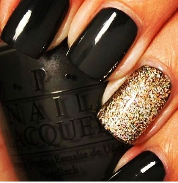 OPI Nein! Nein! Nein! Ok Fine! And OPI Bring on the Bling. By Instagram's GrapeFizzNails. #grapefizznails
