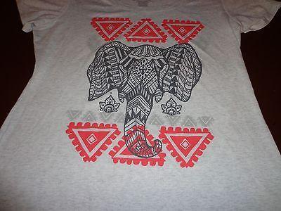 Women's Empyre Gray  Elephant  Tee T Shirt Large   P5