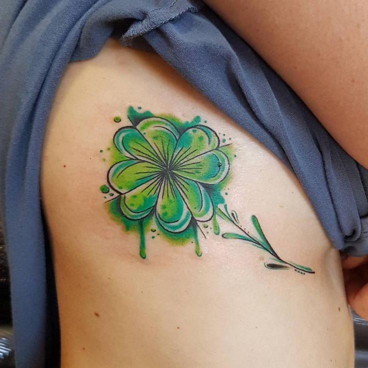 #water-color #shamrock #tattoo #amazing #great #tattoo #color #St.Patrick #Ireland #Dublin