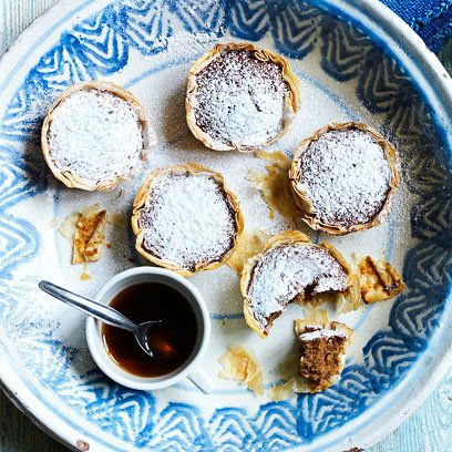 Walnut Tartlets made with filo pastry