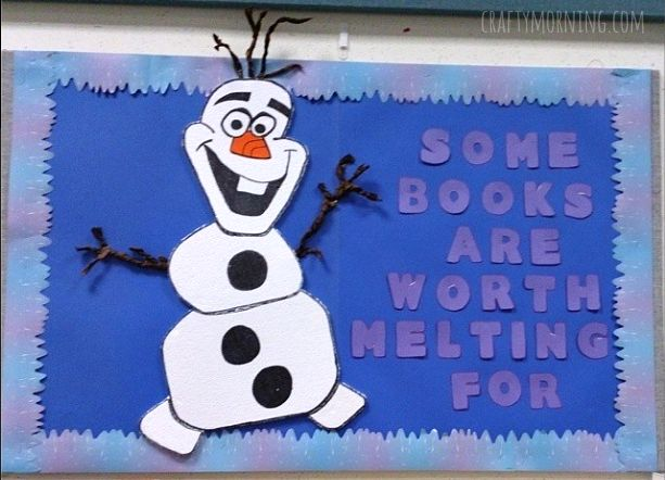 Here Are Some Fun Frozen Olaf Bulletin Board Ideas For Your Classroom!  These Are Perfect · Book Bulletin BoardChristmas Library Bulletin ...