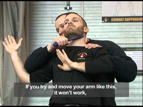 Close quarter combat:Defence against knife attack - YouTube