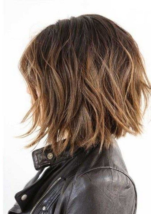 10 More Chic Wavy Bob Haircuts: #5. Caramel-colored wavy inverted bob