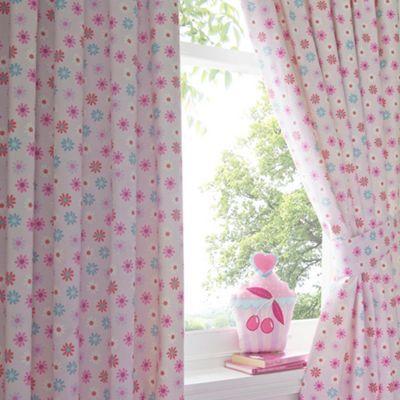bluezoo Kid's pink floral printed curtains- | Debenhams