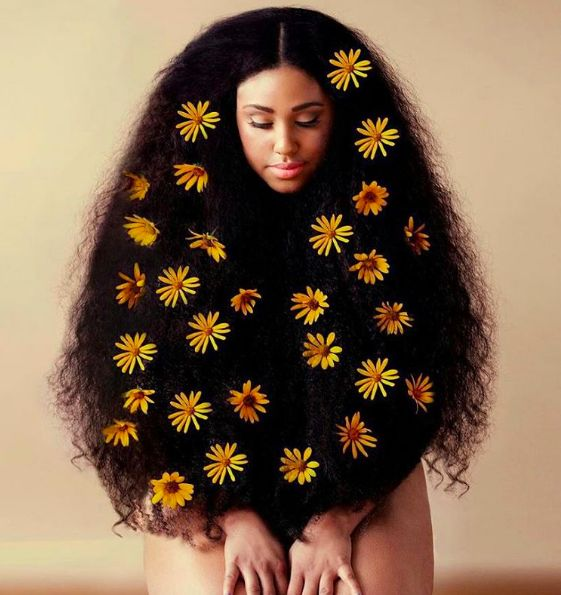 Chic Floral Afros Perfect For Summer
