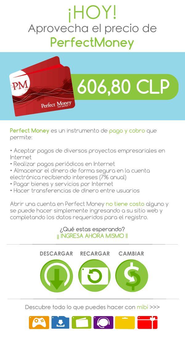 PerfectMoney Chile! Agrega saldo a PerfectMoney en Chile. Fácil, rápido y seguro. www.mibi.cl