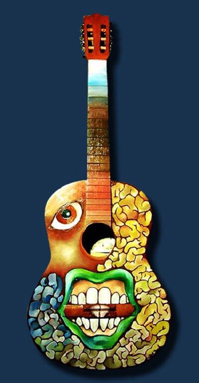 Spanish Guitar created by artist JoyDi Substance for the Musical Youth Foundation!