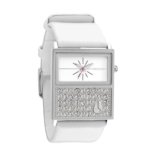 Nixon Women's Chalet Leather Watch Crystal. Sexiest woman's watch.