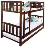 Buy McLogan  Bunk Bed  with Trundle in Walnut Finish by Mollycoddle  Online: Shop from wide range of Kids Furniture Online in India at best prices. ✔Free Shipping✔Easy EMI✔Easy Returns