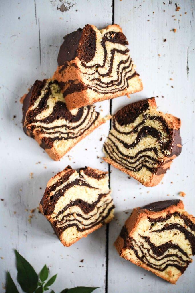 Pflaumenmus-Marmorkuchen