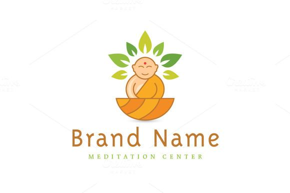 For sale. Only $29 - nirvana, leaf, life, natural, spa, healthy, wellness, happy, yoga, body, Buddha, calm, human, mind, Zen, meditation, tea, spirit, relaxation, teaching, monk, peace, mentor, tea, orange, green, harmony, balance, character, mascot, illustration, halo, logo, design, template,