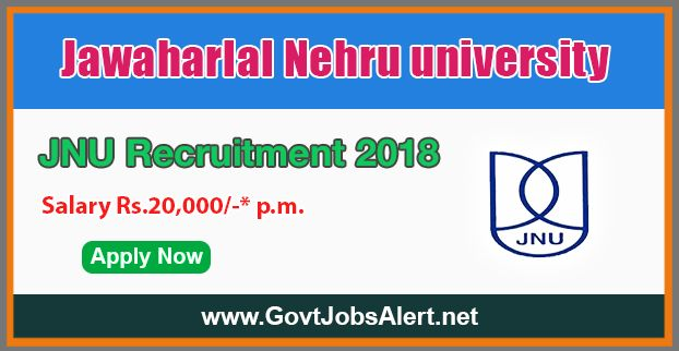 """JNU Recruitment 2018 - Hiring Research Associate and Research Assistant Posts, Salary Rs.20,000/- : Apply Now !!!  The Jawaharlal Nehru University – JNU Recruitment 2018 has released an official employment notification inviting interested and eligible candidates to apply for the positions of Research Associate and Research Assistant in ICSSR sponsored project entitled """"A Comprehensive Study of Culture Philosophy, Literature and Languages in Jammu and Kashmir"""".   #20"""
