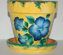 Resultado de imagen para flower pot painting