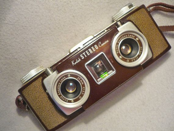 Vintage Stereo Camera.....cool, would love to find one of these!