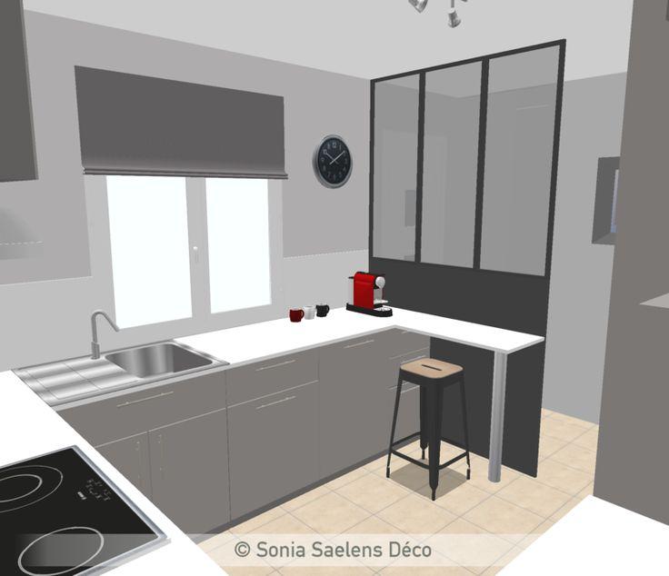 Modernisation de la cuisine projection 3d projets pro for Deco cuisine 3d