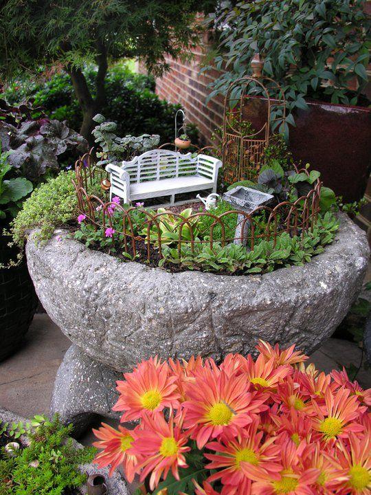 hypertufa mini garden