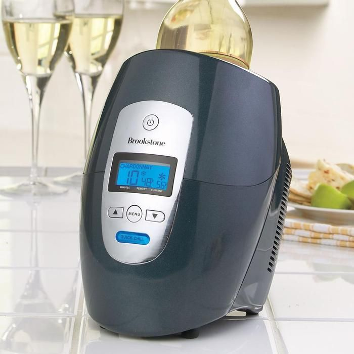 Iceless Wine Chiller - for reds & whites. Available from Brookstone and other stores.