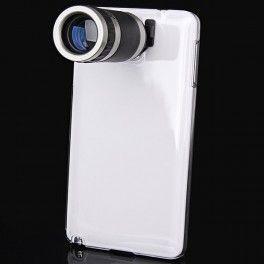 Objectif photo pour Samsung Galaxy note 3 zoom 8x avec coque transparente