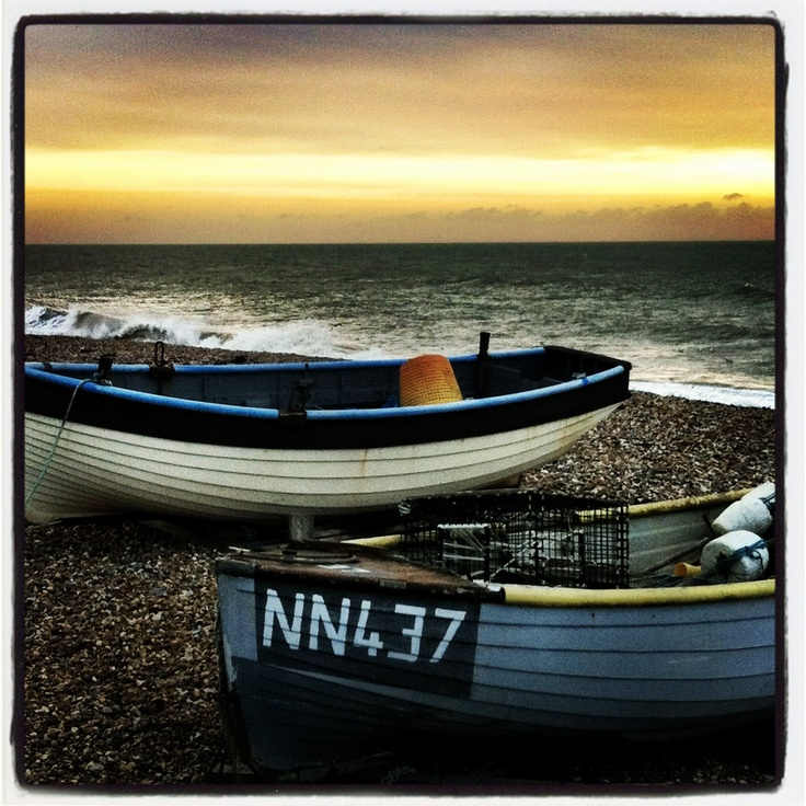 Fishing Boats in Bexhill-on-Sea, East Sussex, UK