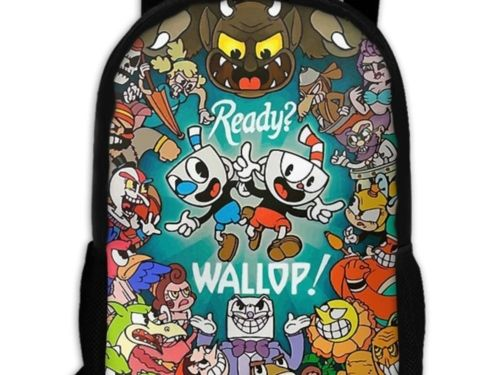 cc7f534aec1b Cuphead Backpack | Cuphead Products | Backpacks, School backpacks ...