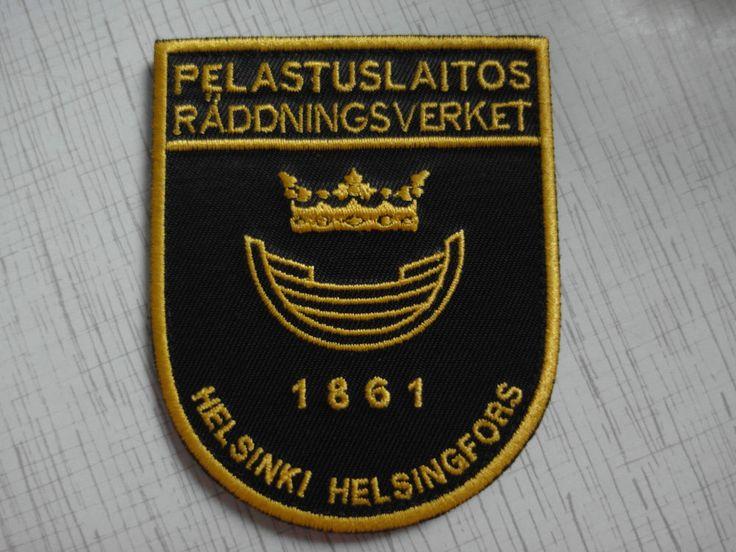 Patch Fire Finland Pelastuslaitos Helsinki Helsingfors Suomen tasavalta New Rar  | eBay