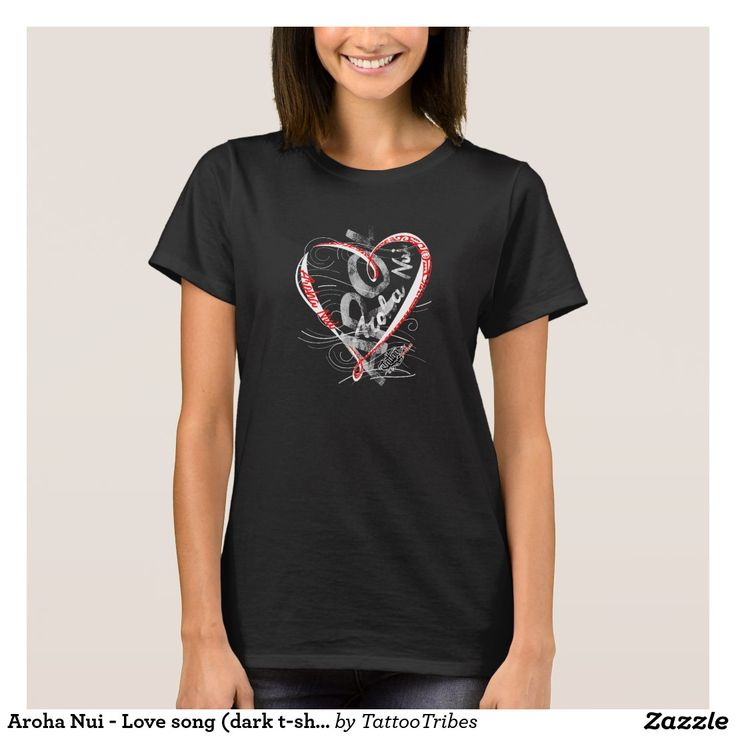 Aroha Nui - Love song (dark t-shirt)